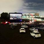 Автомобильный кинотеатр переехал на Петроградку
