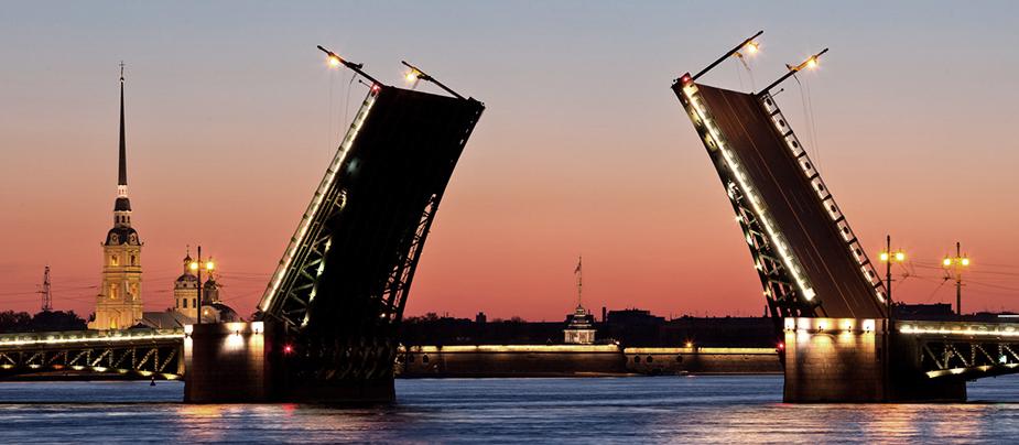 развод мостов в СПб 2015 - фотография развода мостов