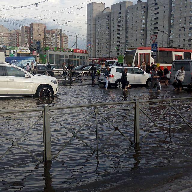 Потоп в СПб 17 июля