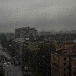 Град и мощный ливень в Петербурге 17 июля