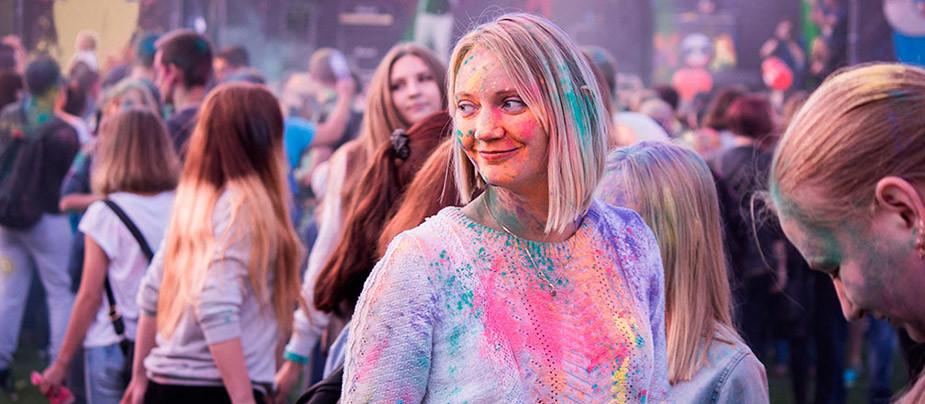 Фотоотчет с закрытия сезона фестиваля красок Холи