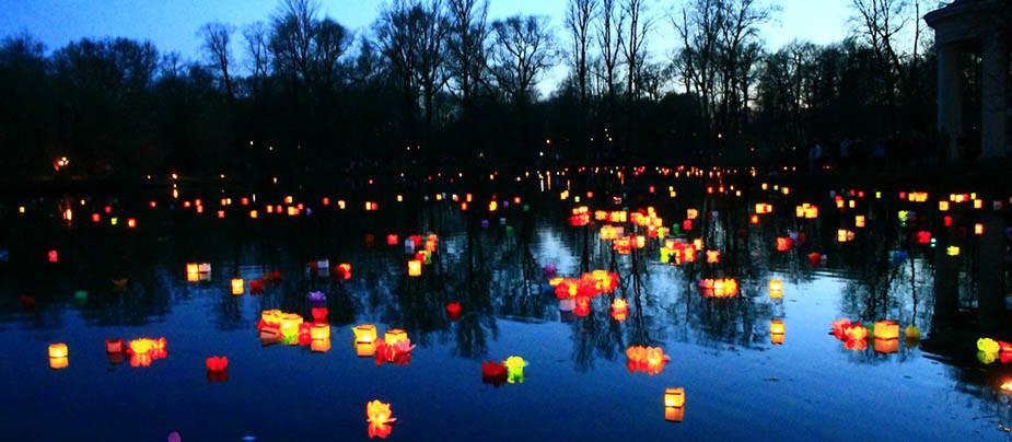 Осенний Фестиваль Водных фонариков