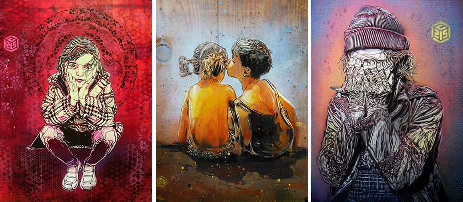 Выставка французского стрит-артиста С215 в Эрарте